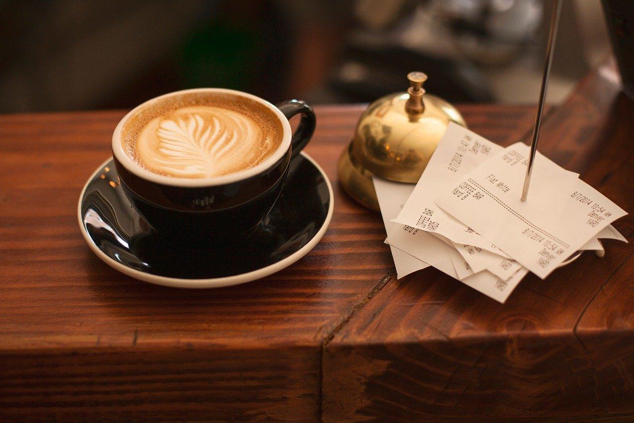 カフェのレシート