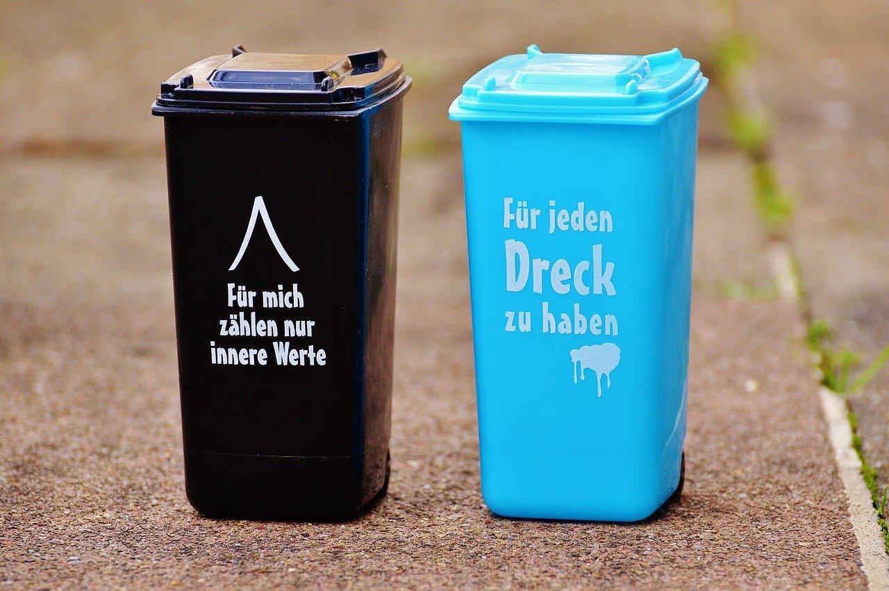 2つのゴミ箱