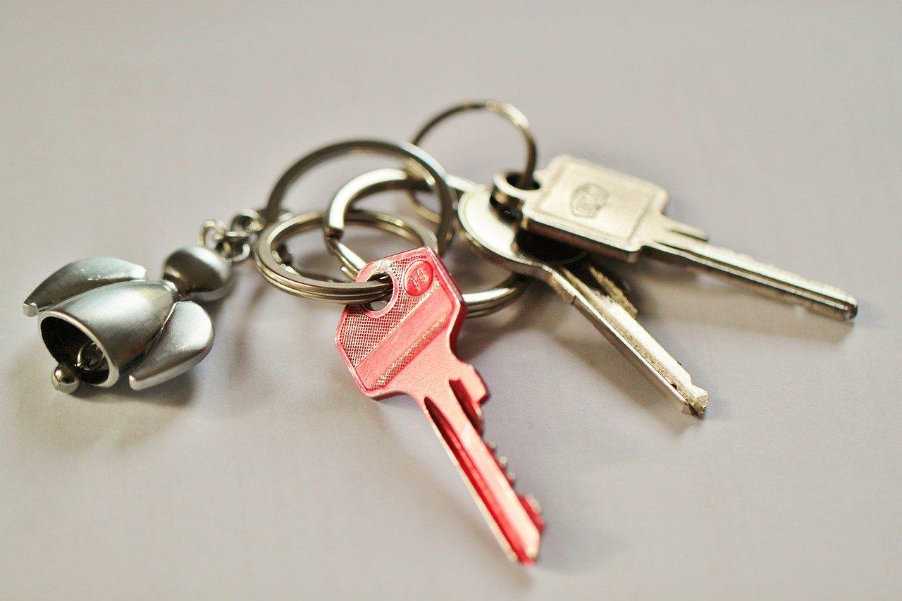 鍵のついたキーリング