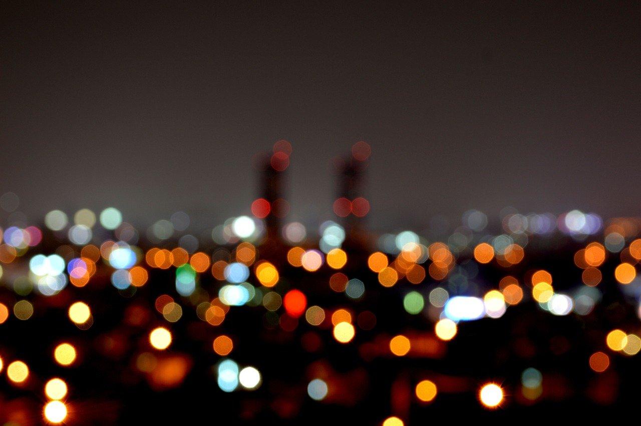 ロマンチックな夜景